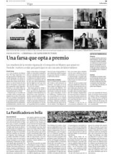 Criminal, nuestro falso trailer para Teaserland, en La Voz de Galicia del pasado viernes 21 de noviembre.
