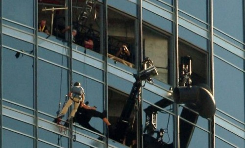 Espectacular set de Mission: Impossible 4 en el Burj Khalifa
