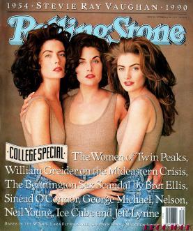 Las protagonistas de Twin Peaks en la portada de Rolling Stone en octubre de 1990.