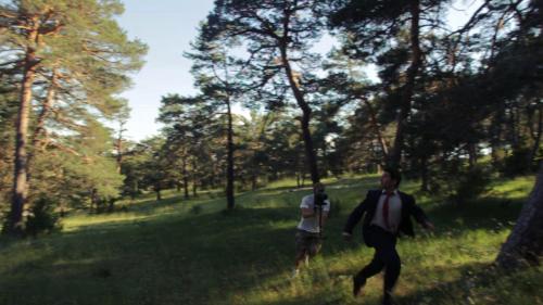 Guillermo Fernández de Oliveira persigue a Javier Oñate con una Glidecam HD-2000 durante el rodaje de Modern Warfare Sunrise